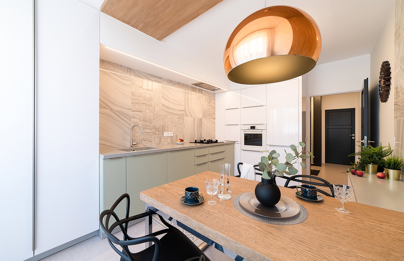 Modern flat interior in Brno from NOVOdesign and design-factory