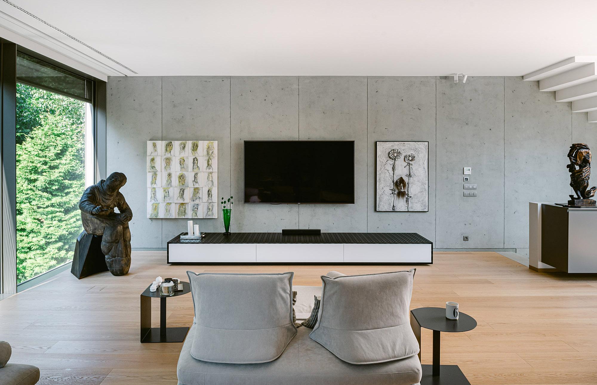Moderný interiér vily v Horskom Parku, v Bratislave od design-factory