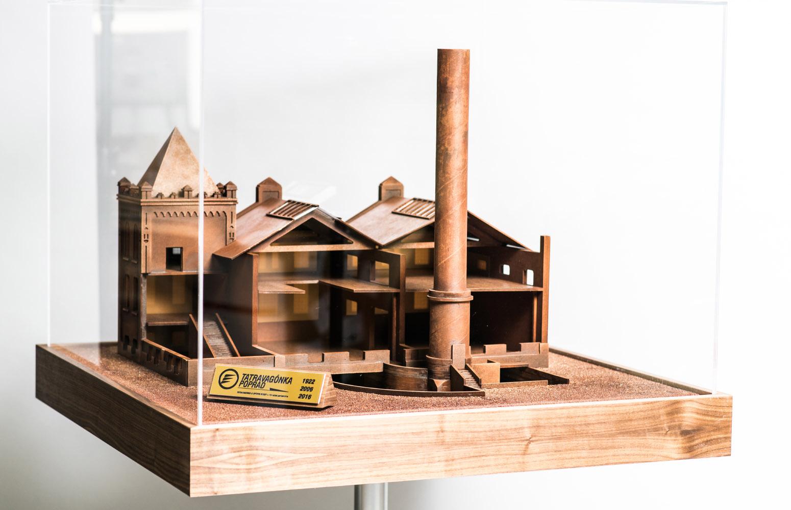 Model zlievarne Tatravagónka Poprad od design-factory