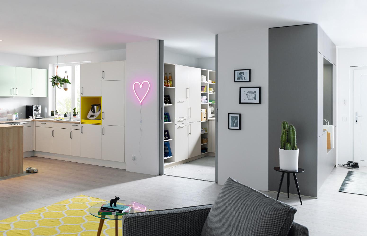 Multifunkčná technická miestnosť Easy and Clean značky Schüller v spolupráci s design-factory